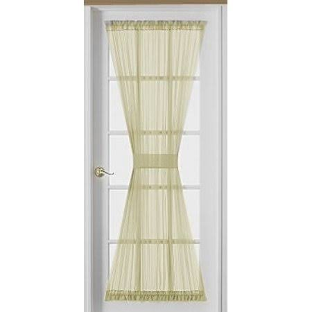 HCI Emelia Sheer Ecru Door Panel 54 inch Long, Beige