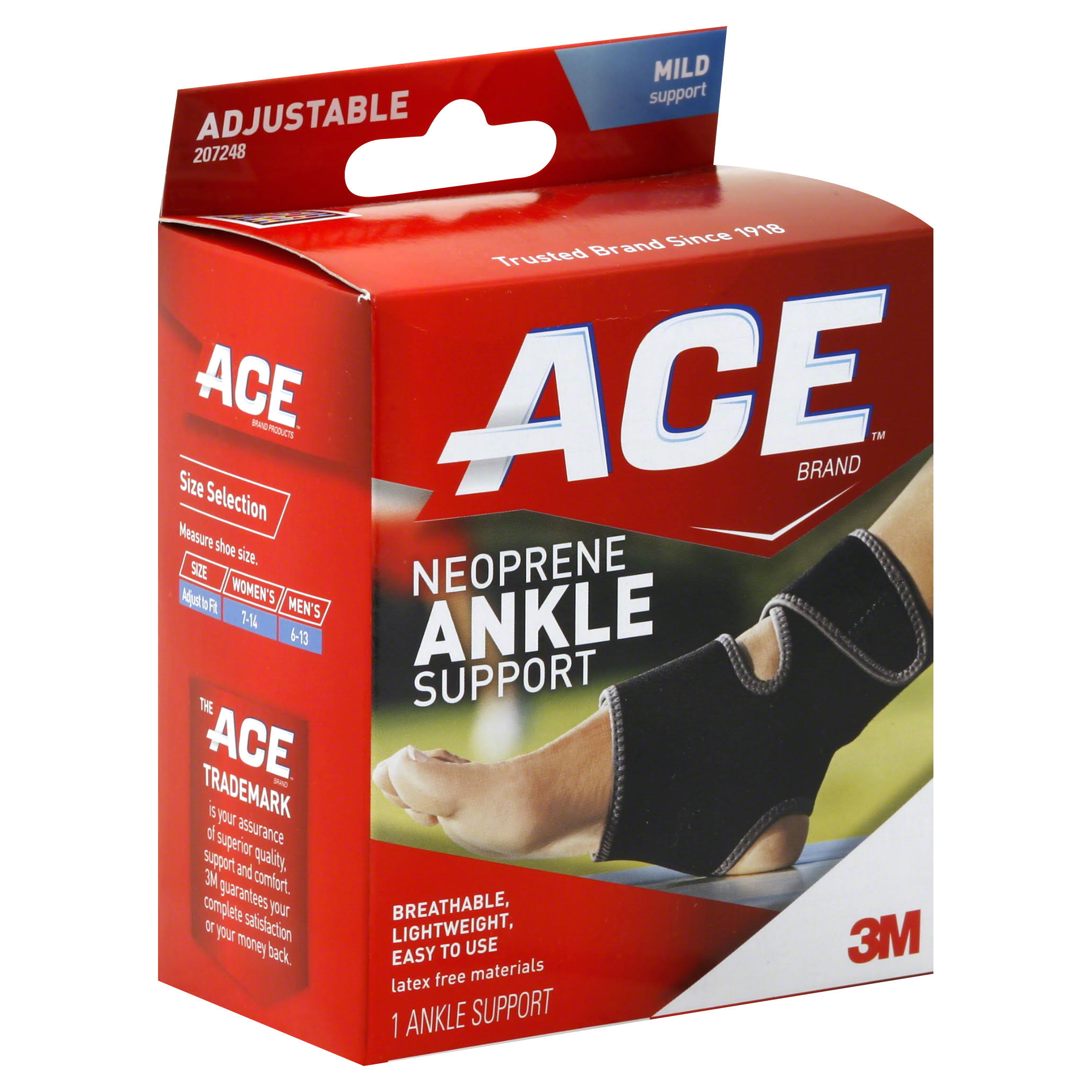 3M Ace Adjustable Neoprene Ankle Support