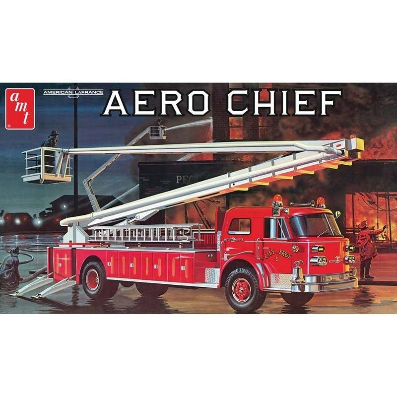 AMT 1:25 Scale American LaFrance Aero Chief Fire Truck Plastic Model Kit