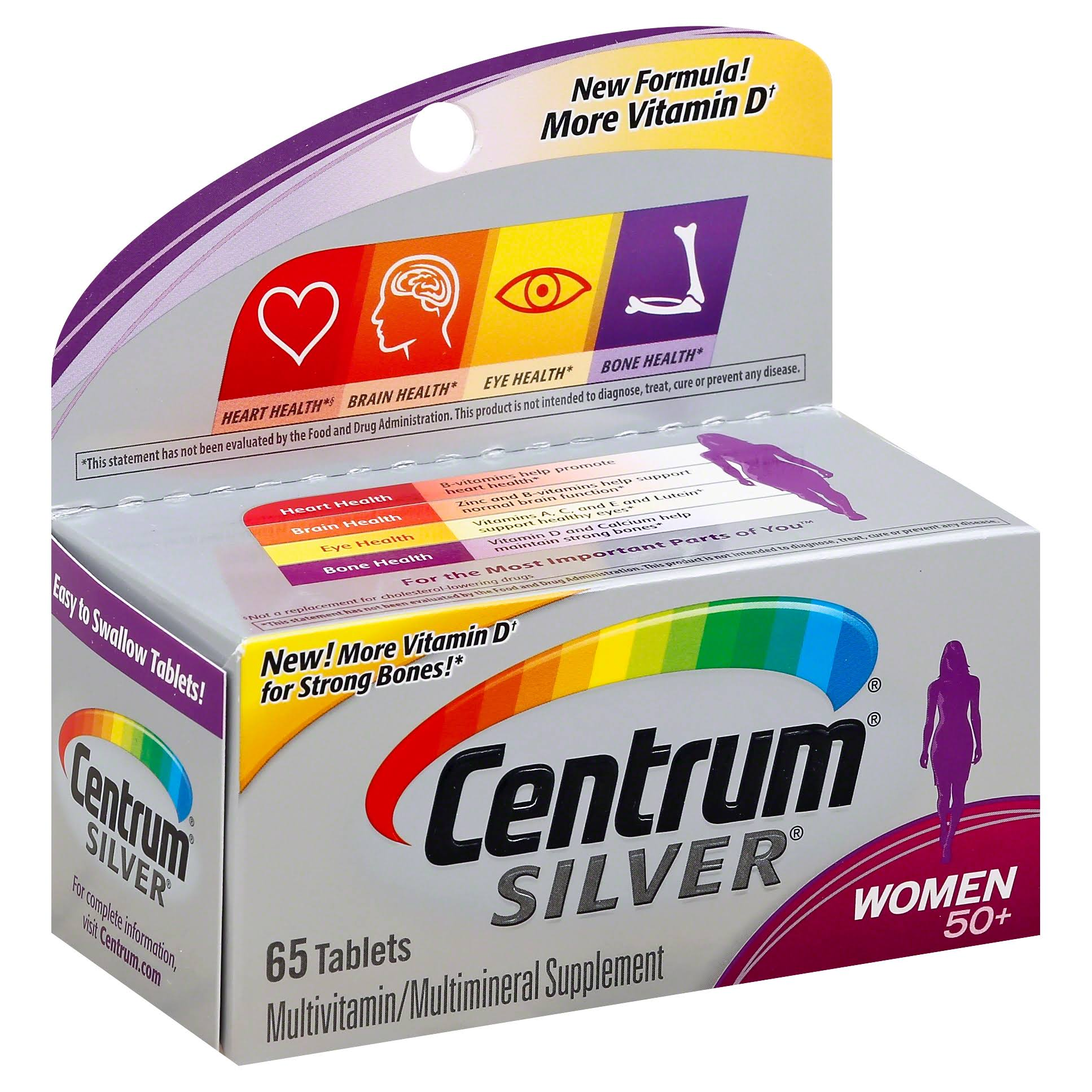 Centrum Silver Multivitamin Dietary Supplement - for Women, 65 Tablets