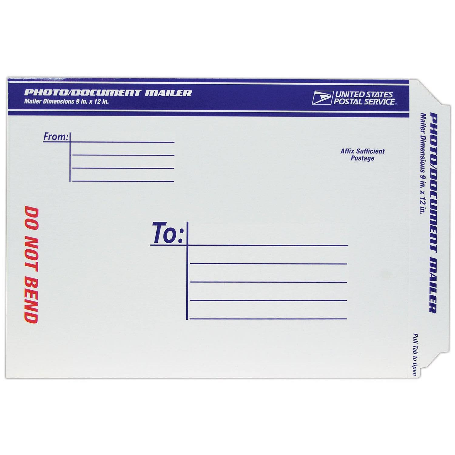 "LePage's USPS Document Mailer - White, 9""x12"""