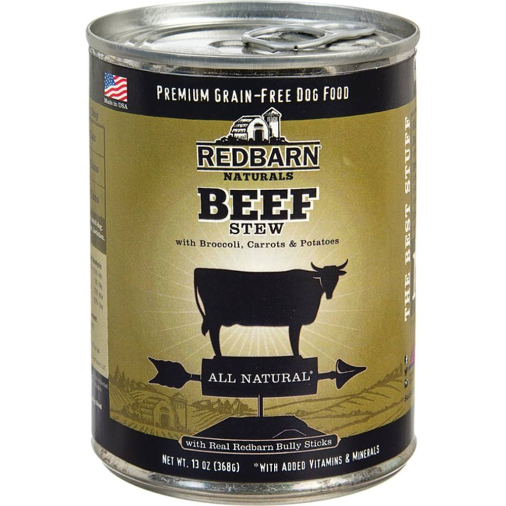 Redbarn Naturals Stewy Louie Dog Food - Beef Stew With Brocccoli Carrots Potatoes and Bully Sticks