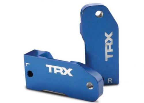 Traxxas Anodized 6061-T6 Aluminum Caster Blocks - Blue, 30 Degree, 3632A