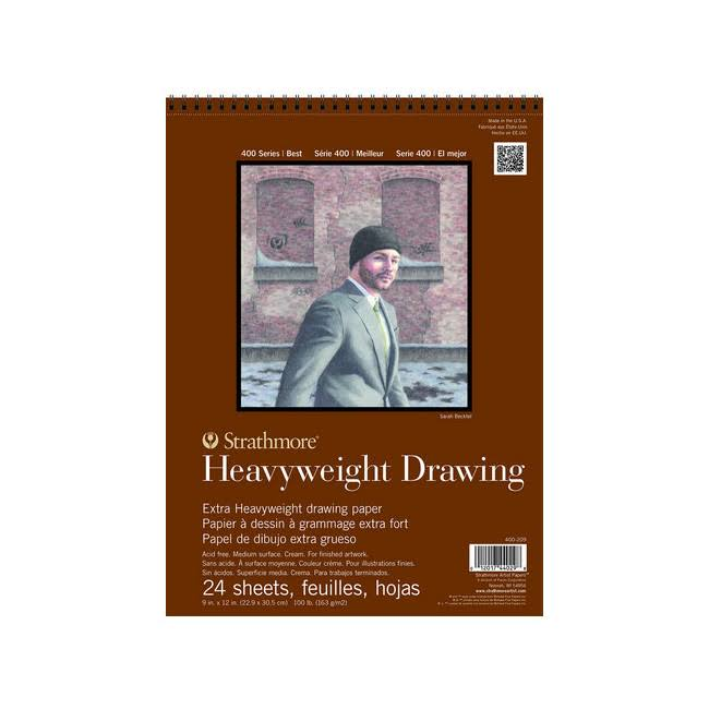 "Strathmore 400 Series Heavyweight Drawing Pad - 9""x12"", x24"
