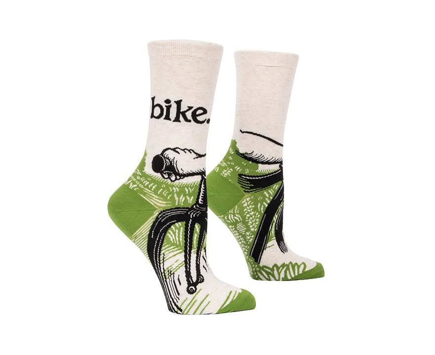 Blue Q Bike Path - Women's Crew Socks