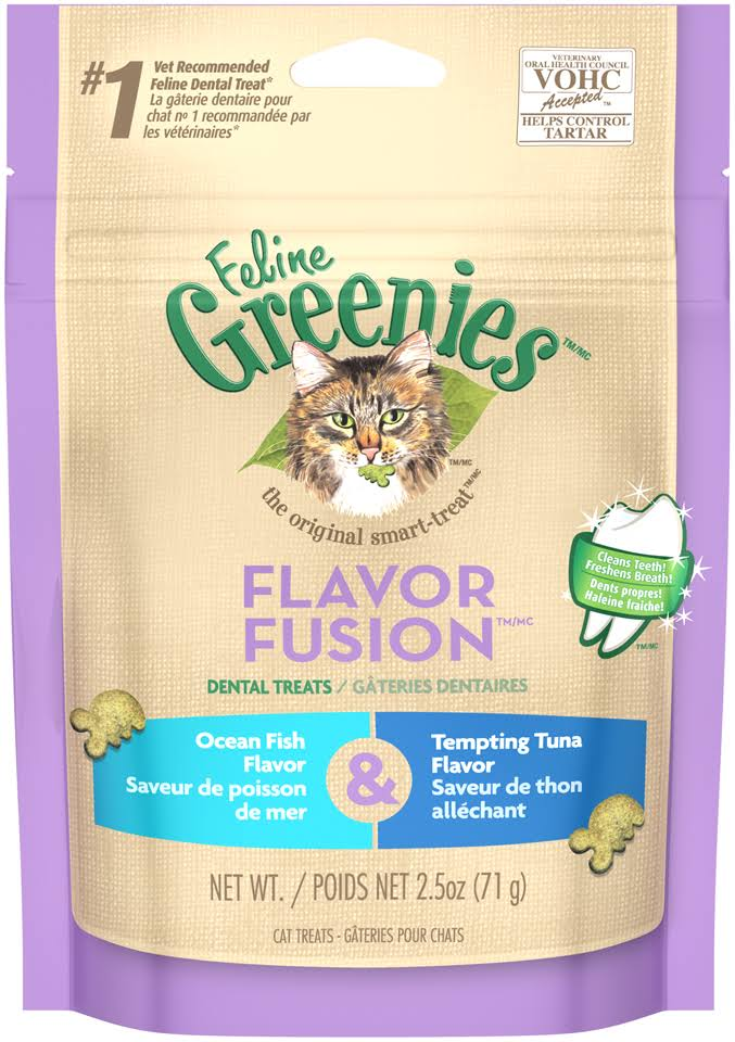 Feline Greenies Flavor Fusion Cat Dental Treats - Ocean Fish & Tuna