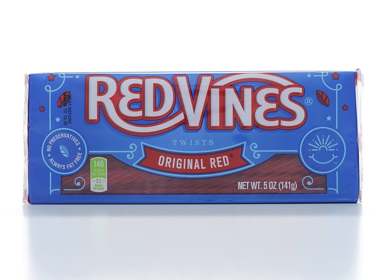 Red Vines Twists Original Candy, Red Licorice - 5 oz tray