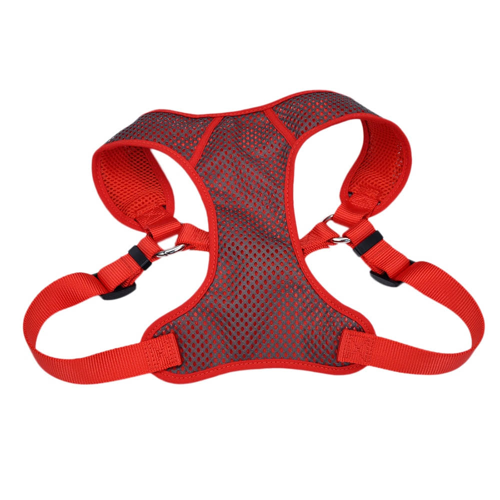 "Coastal Pet Products Comfort Soft Sport Wrap Adjustable Dog Harness - 1"", Grey and Red"