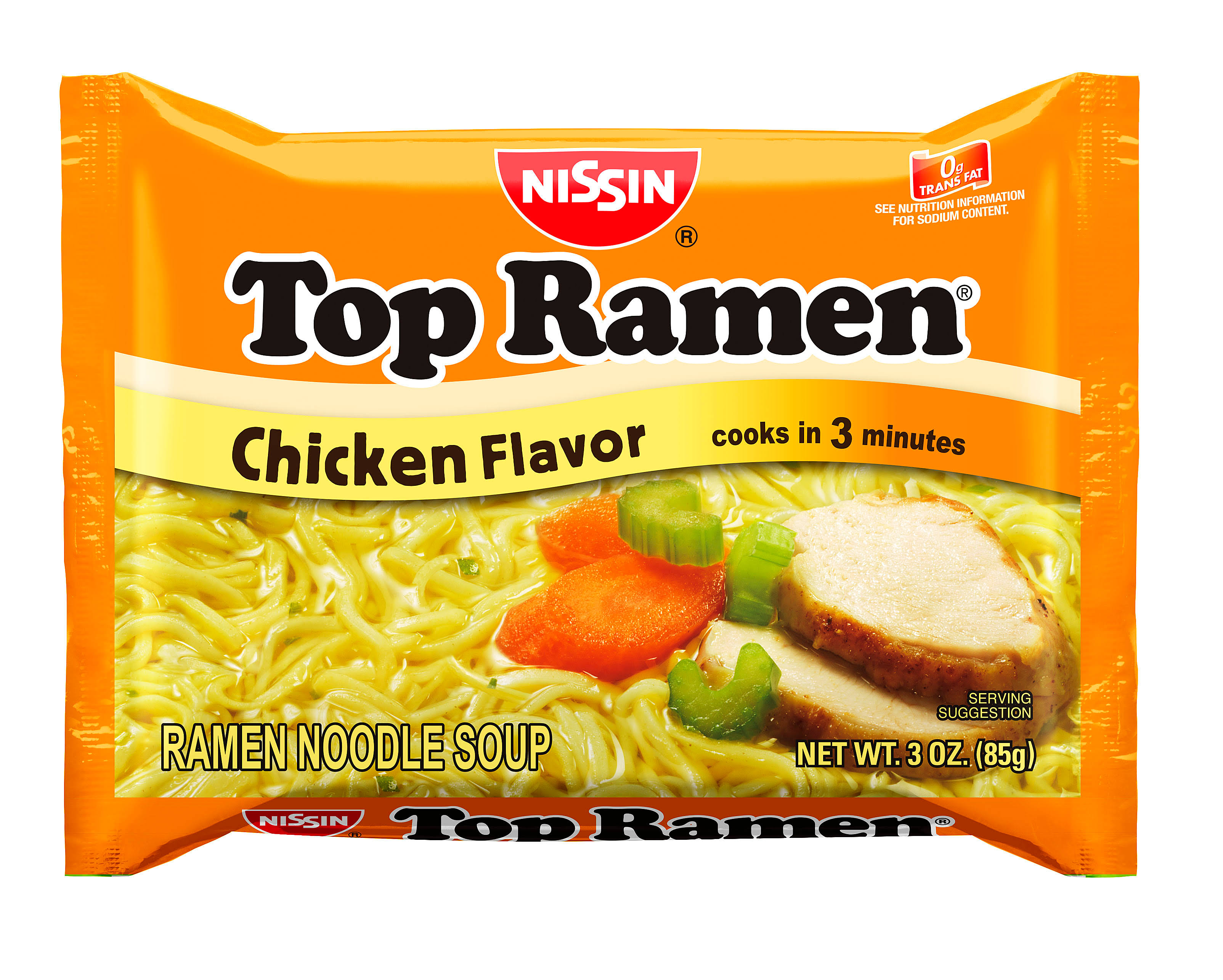 Nissin The Original Top Ramen Noodle Soup - Chicken, 3oz