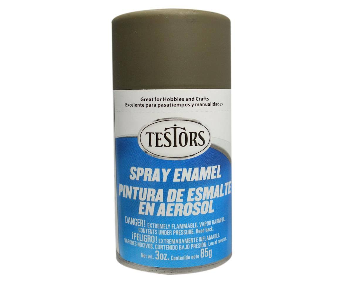 Testors - 1265T Spray Flat Olive Drab 3 oz. Enamel Paint