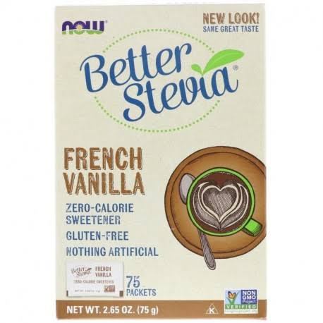 Noew Foods BetterStevia Sweetener - French Vanilla, 75 Packets