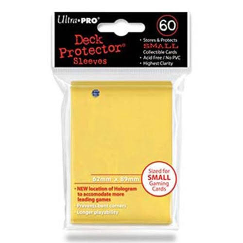 Ultra-Pro Deck Protector Sleeves - Yellow, Small, x60
