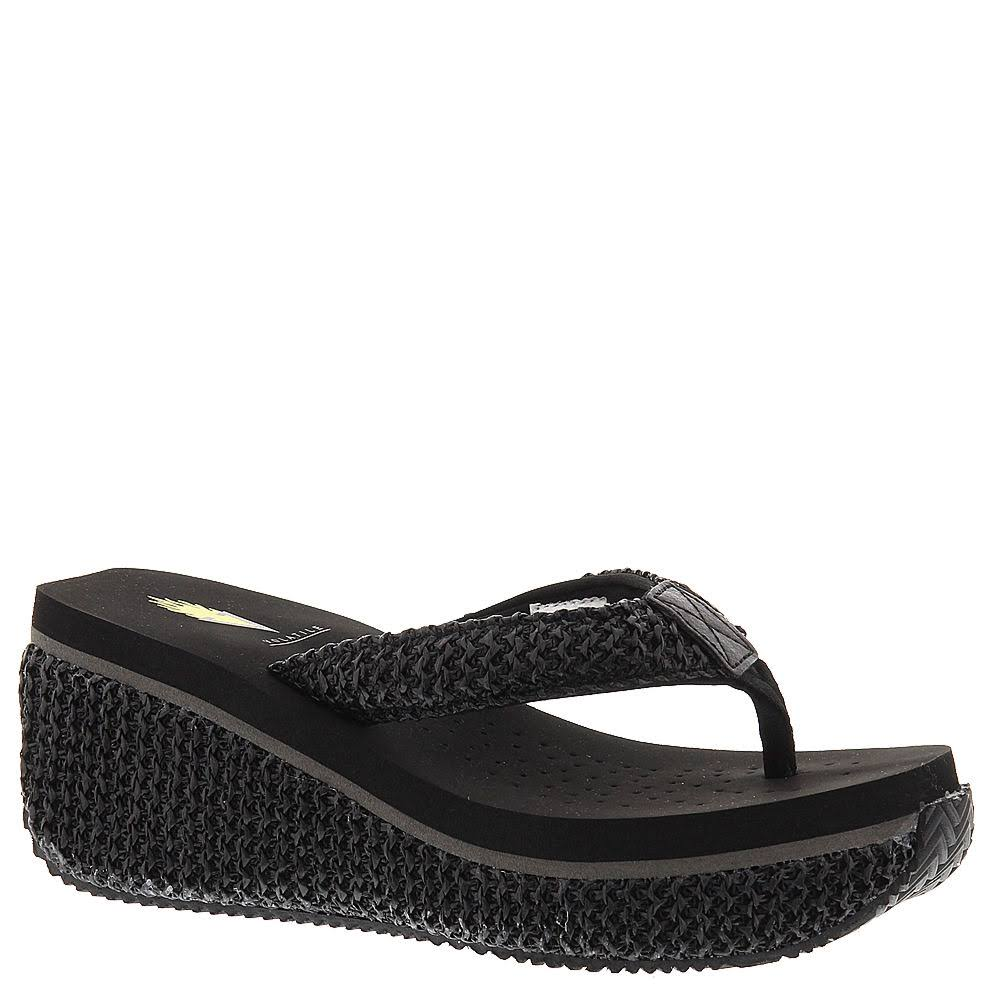 Volatile Women's Island Wedge Sandals - Black, 6 USW