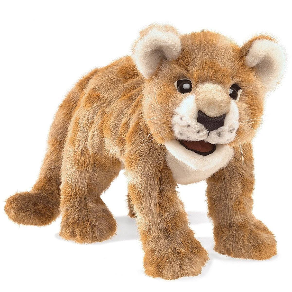 Folkmanis Hand Plush Puppet - African Lion Cub, 19""