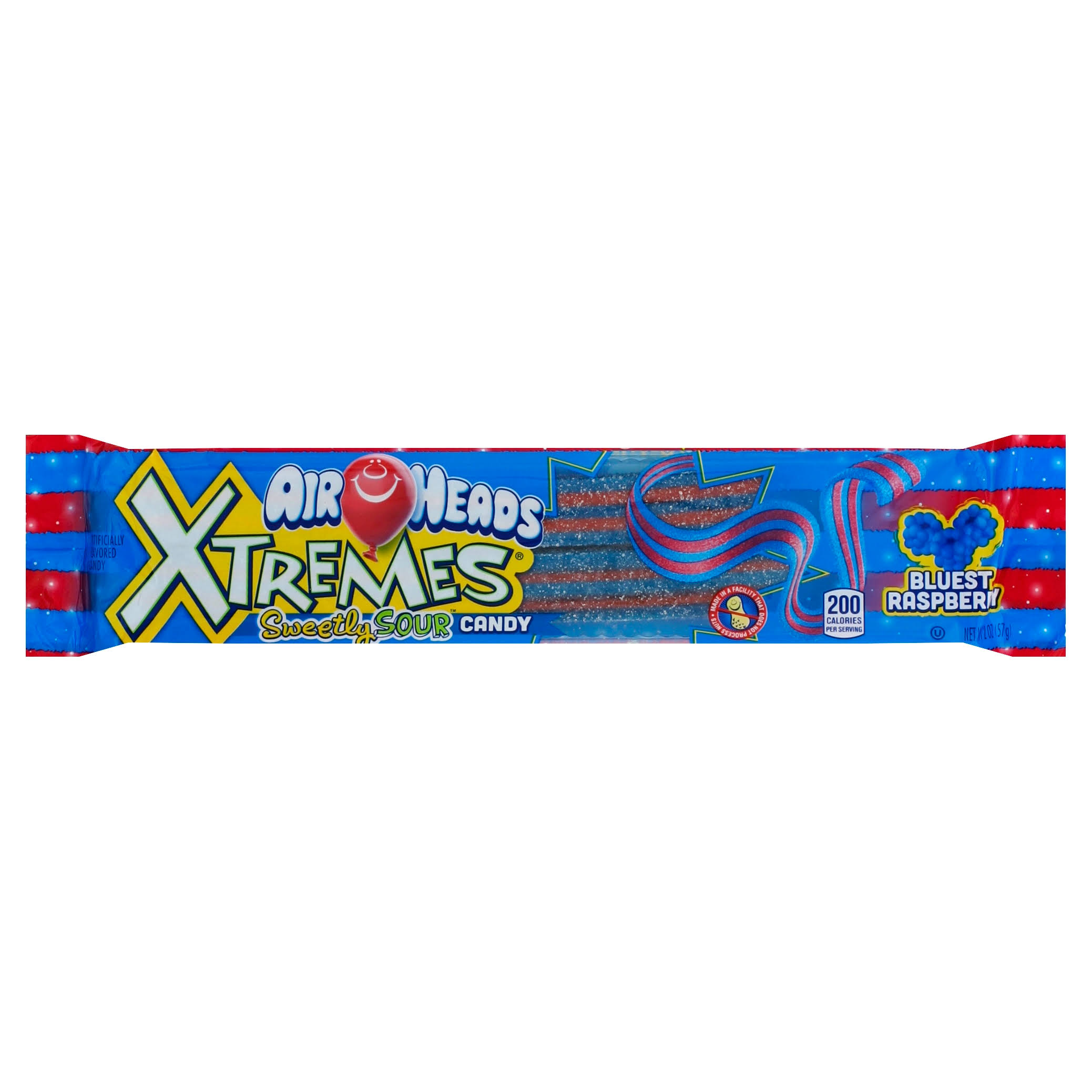 Air Heads Extremes Sweetly Sour Candy - 57g, Bluest Raspberry