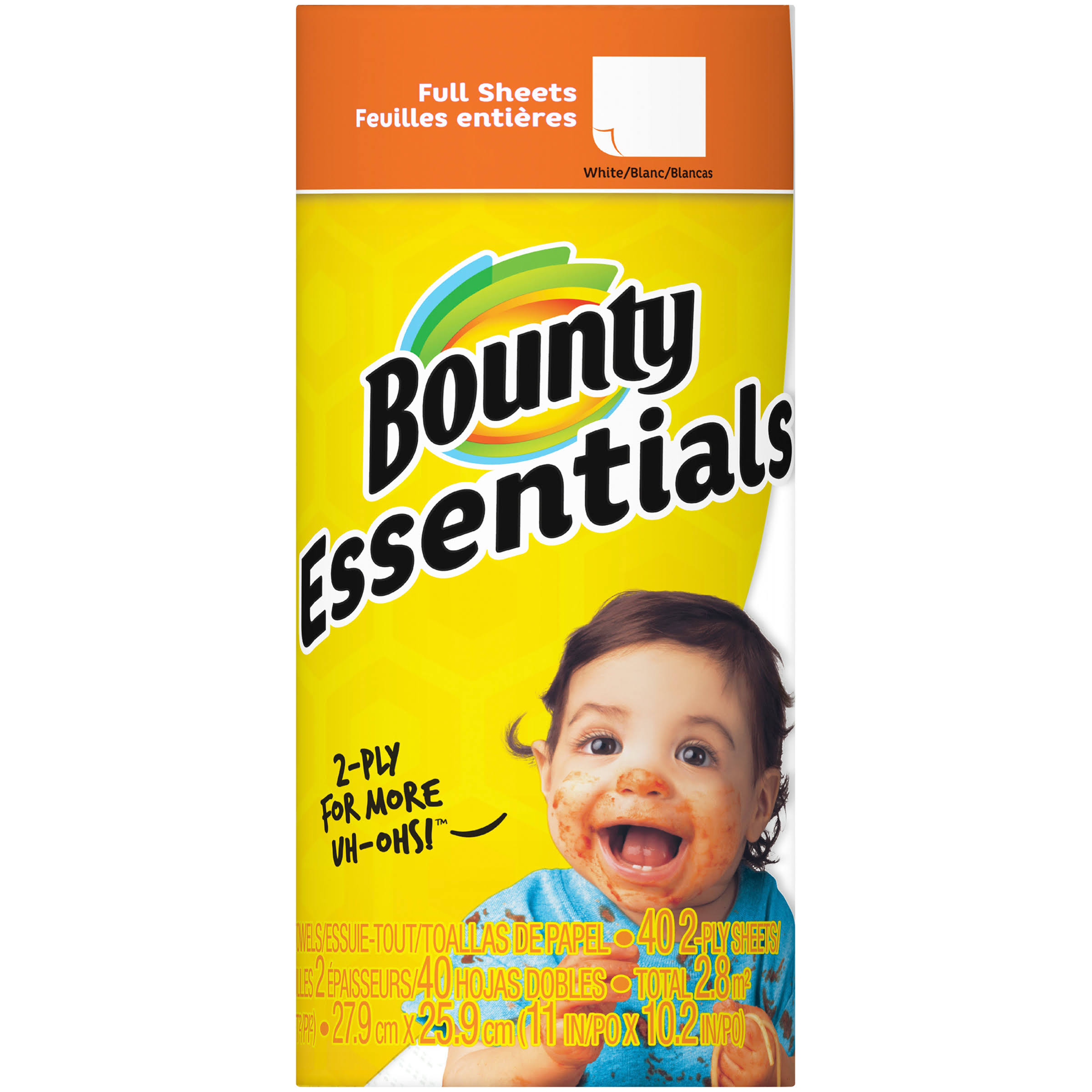 Bounty Essentials White Paper Towels - Regular Roll