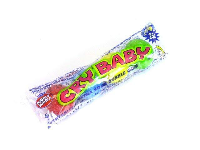 Cry Baby Extra Sour Bubble Gum - 18g