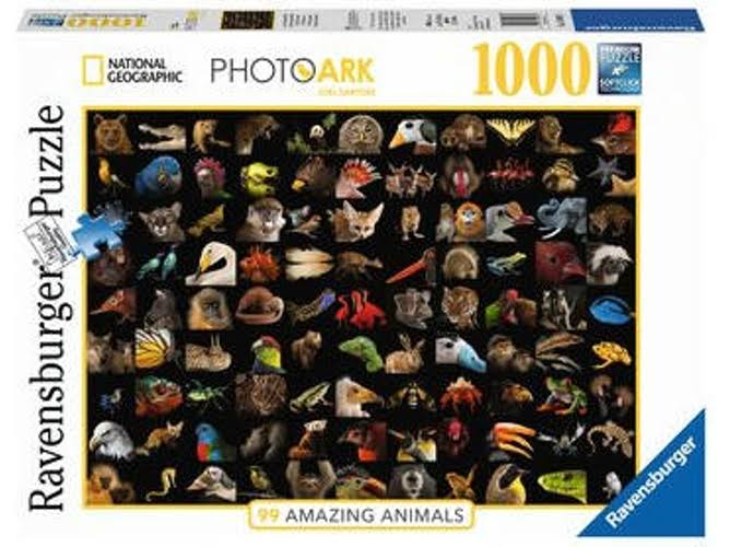 Ravensburger National Geographic 99 Stunning Animals Jigsaw Puzzles Set - 1000pcs Set
