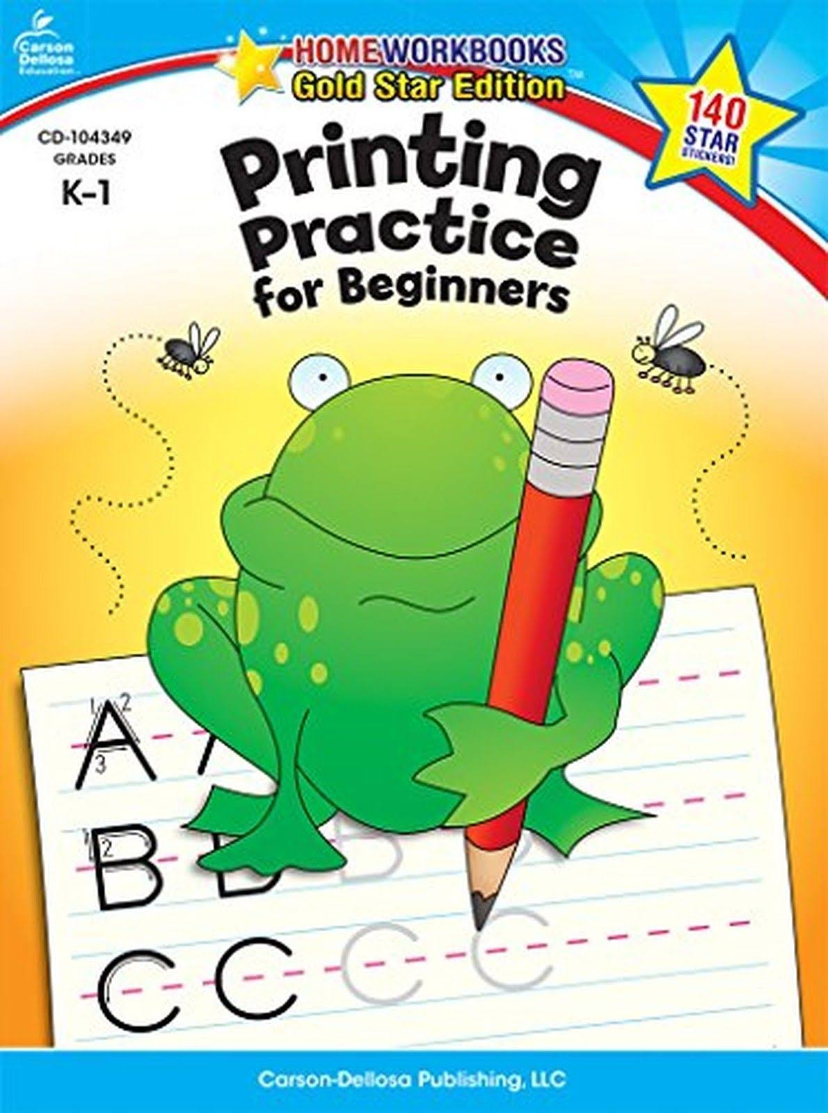 Printing Practice for Beginners Grades K-1: Gold Star Edition - Carson Dellosa Publishing