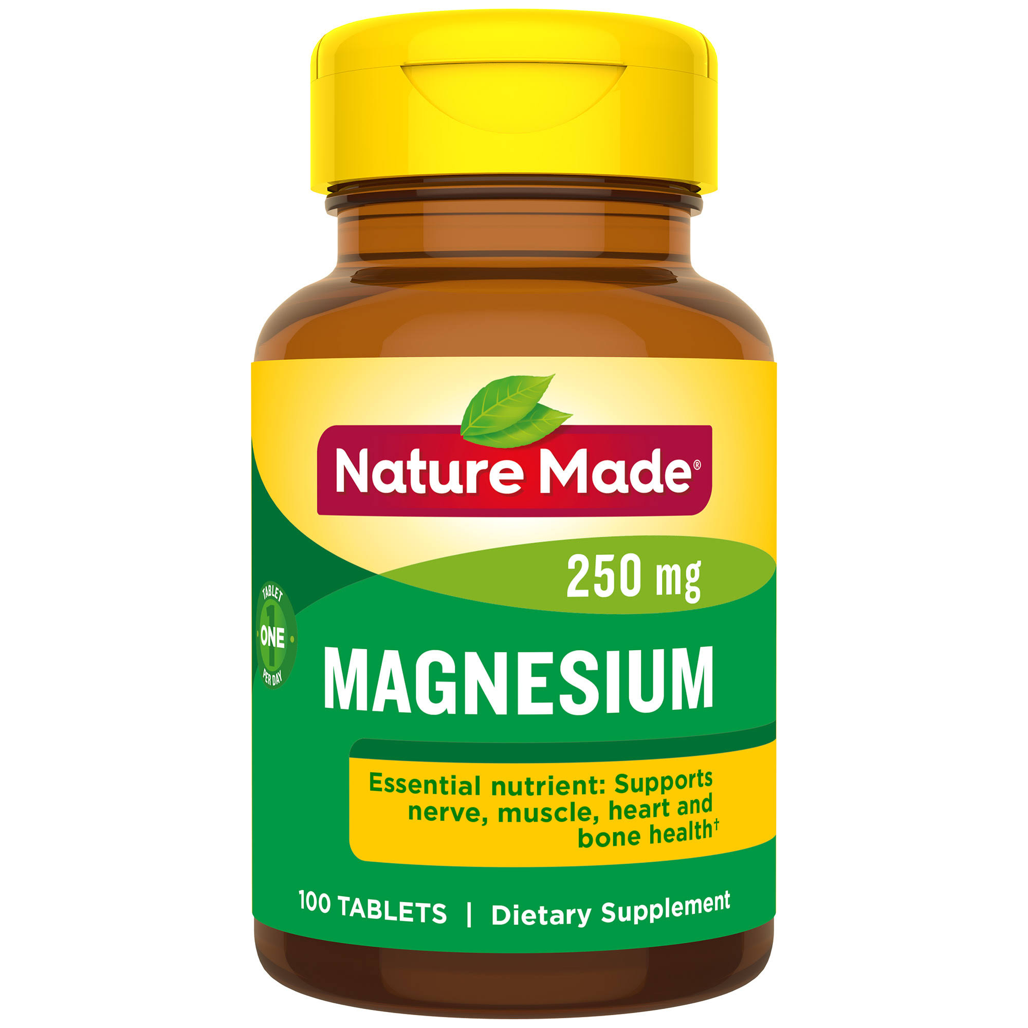 Nature Made Magnesium 250mg Dietary Supplement - 200 Tablets