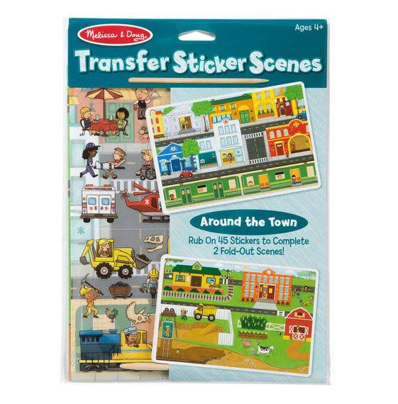 Melissa & Doug Around The Town Transfer Sticker Set