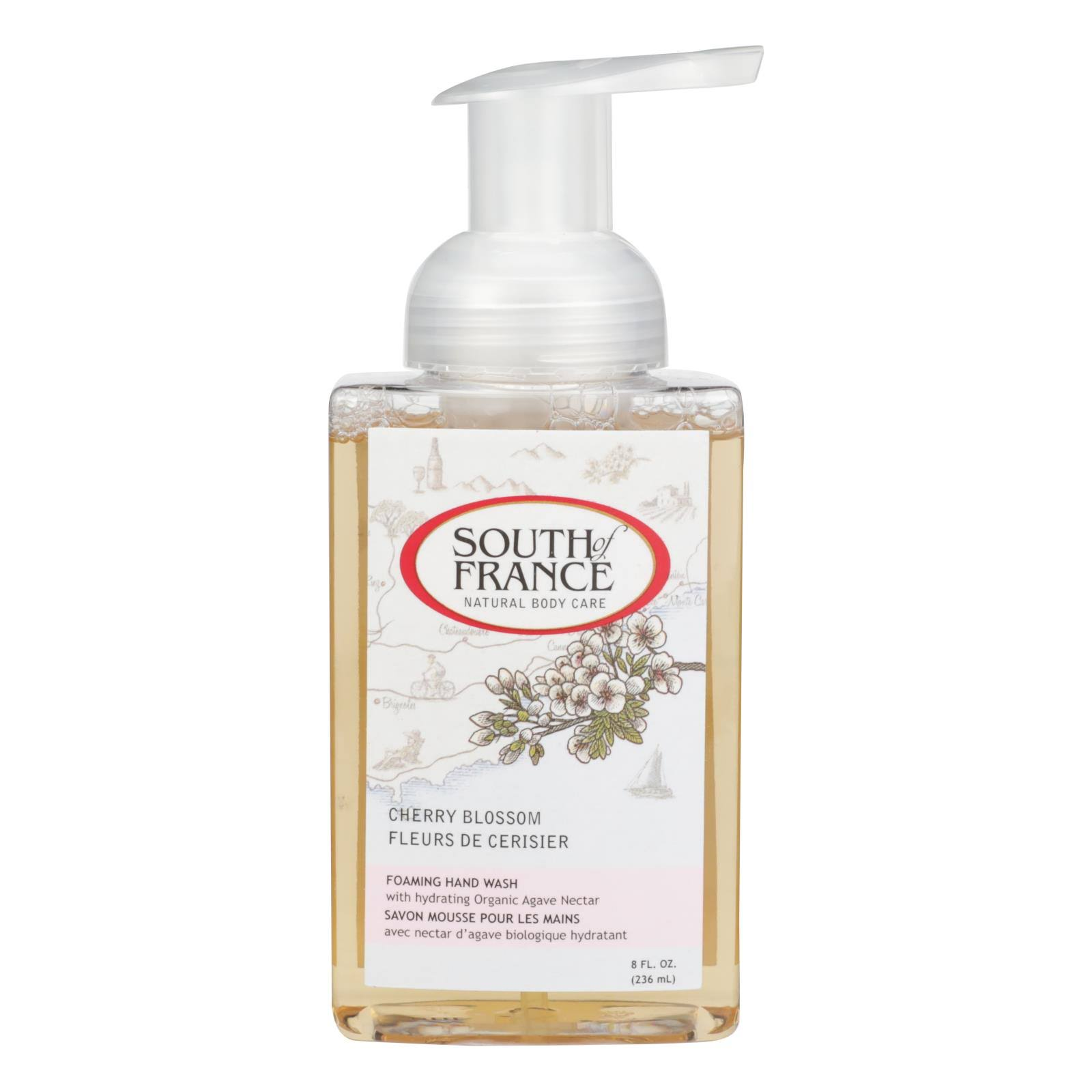 South Of France 250070 Foaming Wash - Cherry Blossom, 8oz