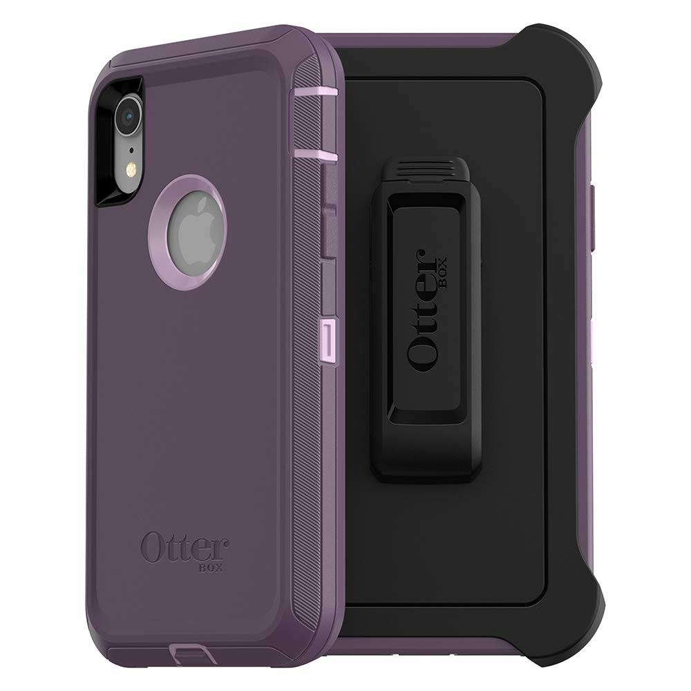 OtterBox Defender Series Case & Holster for iPhone XR - Purple Nebula