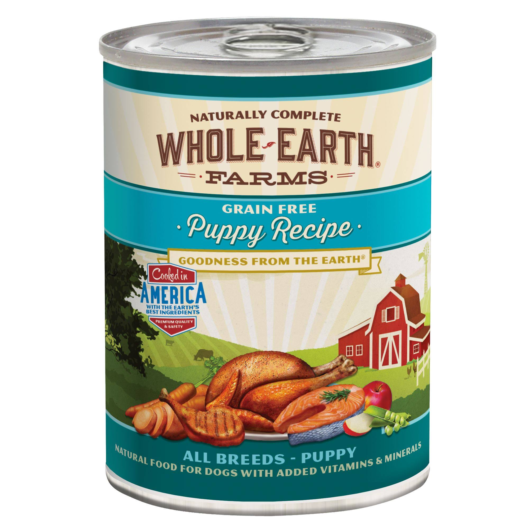 Whole Earth Farms Grain Free Canned Food - Puppy Recipe, 13.2oz
