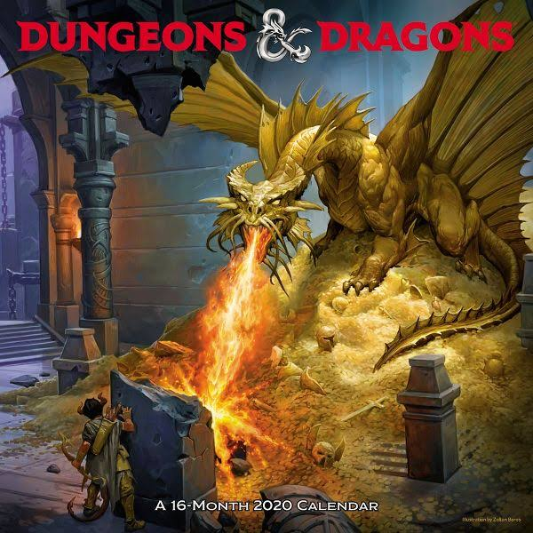 Mead Dungeons and Dragons 12x12 Monthly Wall Calendar - Wall Calendars