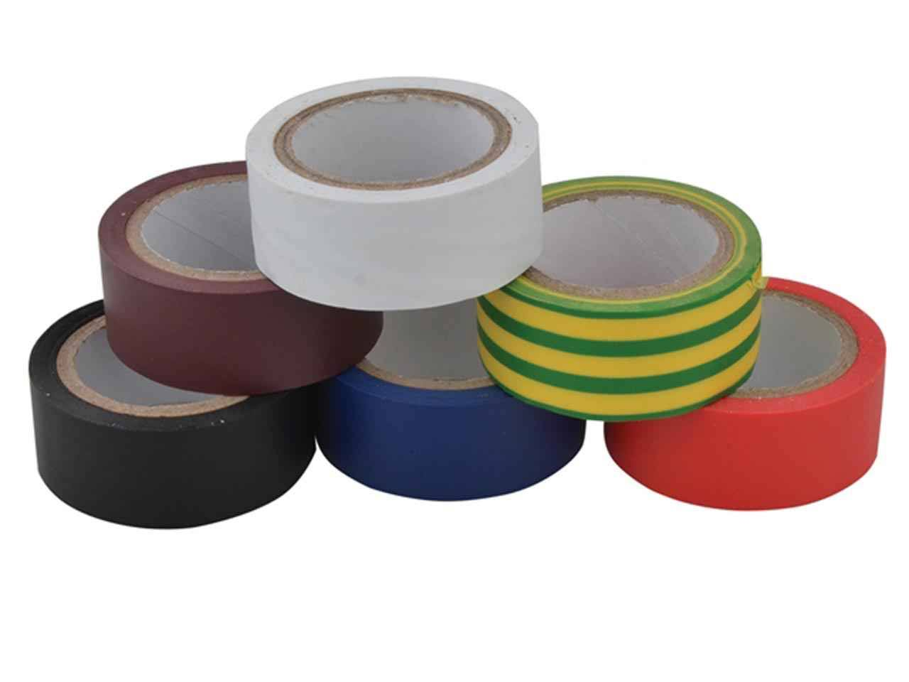 Unibond - Electrical Tape (6 Colour Pack) 19mm x 3.5m
