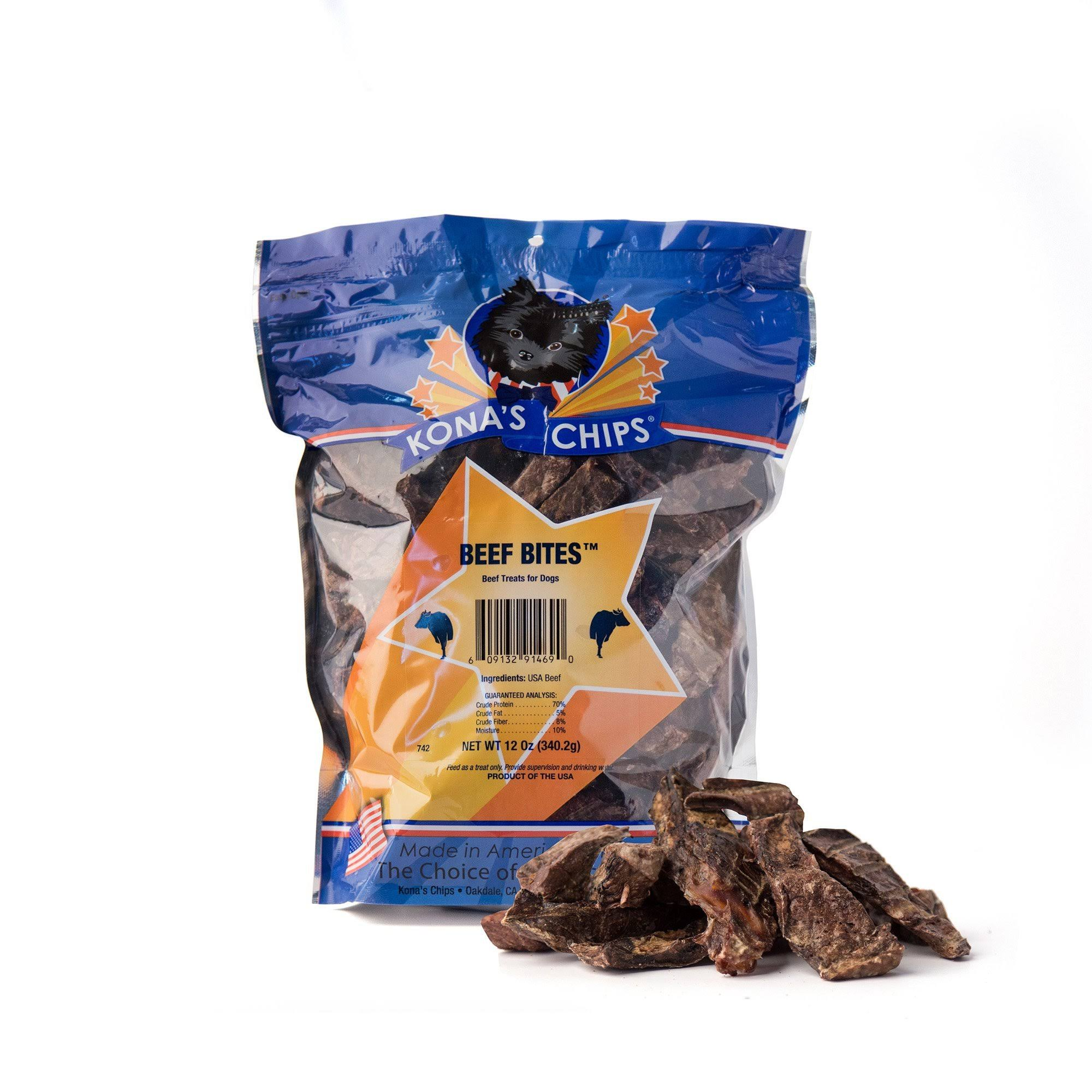 Kona's Chips Beef Bites All Natural Dog Treats - 12oz