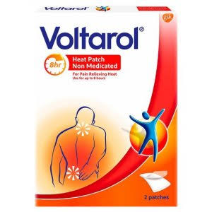 Voltarol Non Medicated Pain Relief Patches Heat Patch Pack - 2 Pack