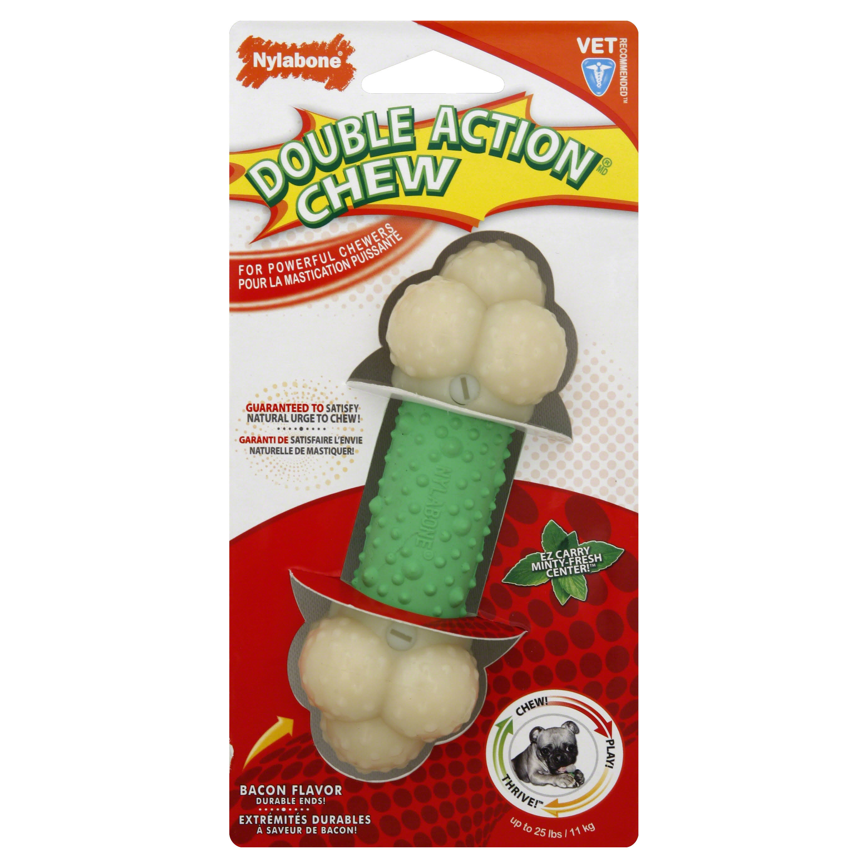 Nylabone Double Action Chew Dog Toy - Medium