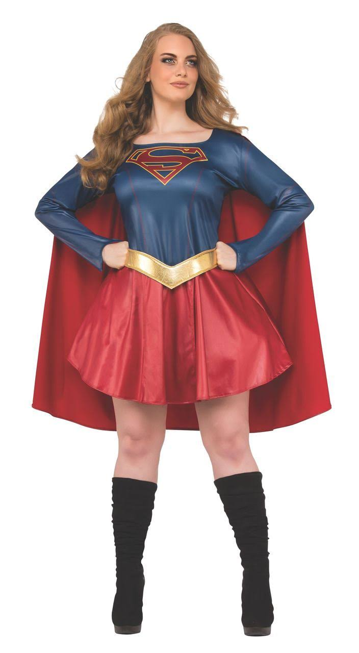 Rubie's Costume Women's Plus Size Supergirl TV Series Costume, Blue/Red, PL
