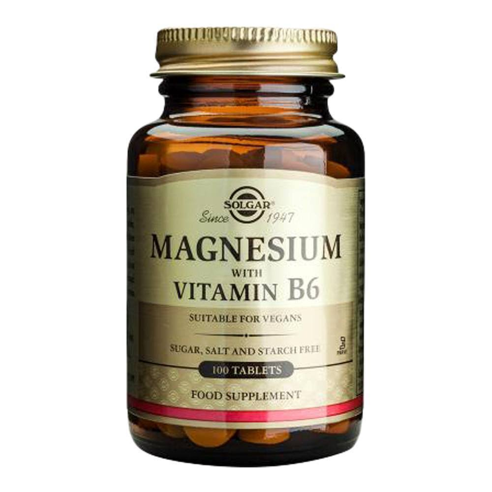 Solgar Magnesium with Vitamin B6 Dietary Supplement - 100 Tablets