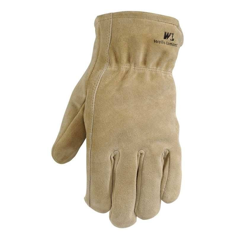 Wells Lamont 7392111 Suede Cowhide Driver Gloves - Brown 2XL