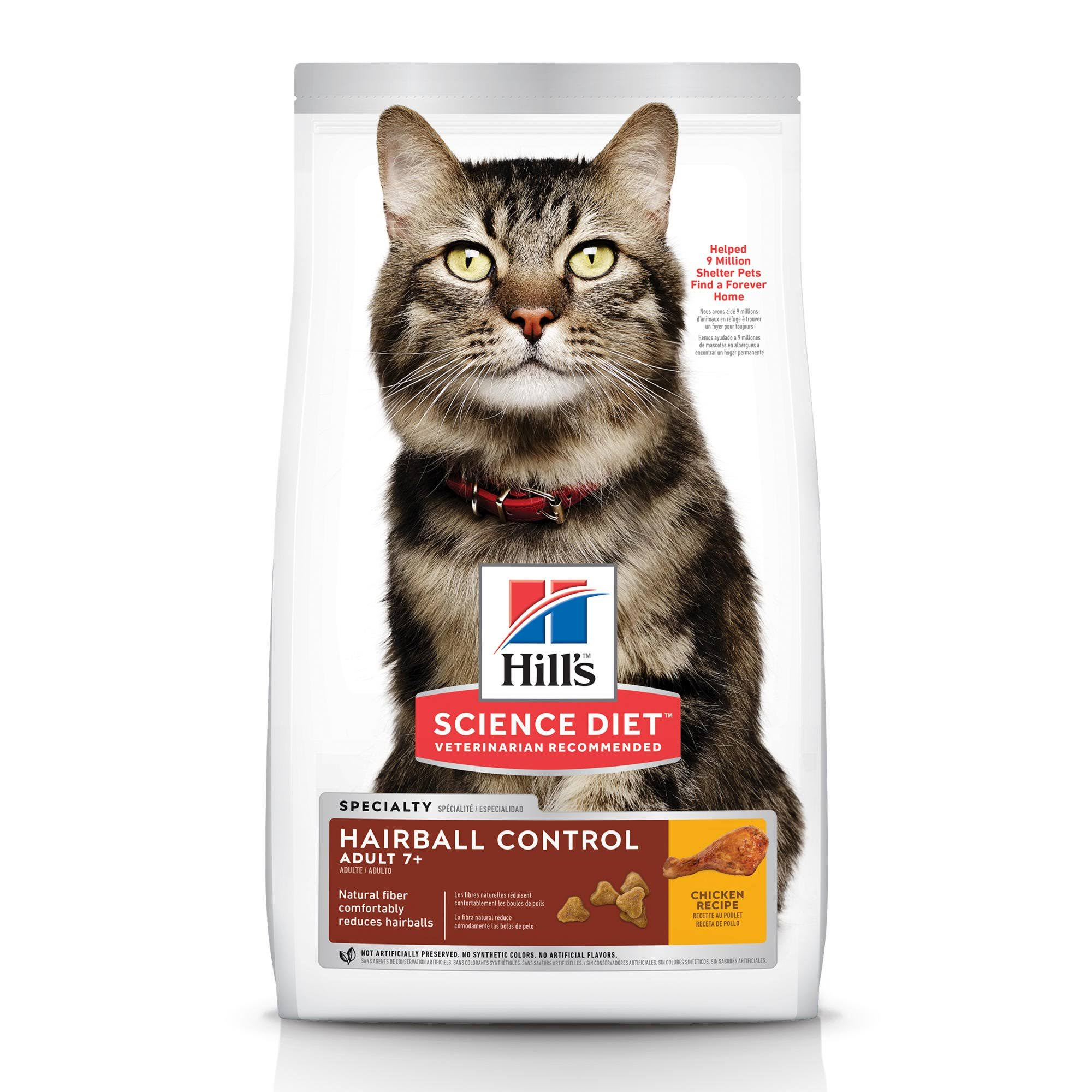 Hill's Science Diet Hairball Control Premium Natural Cat Food - Chicken Recipe