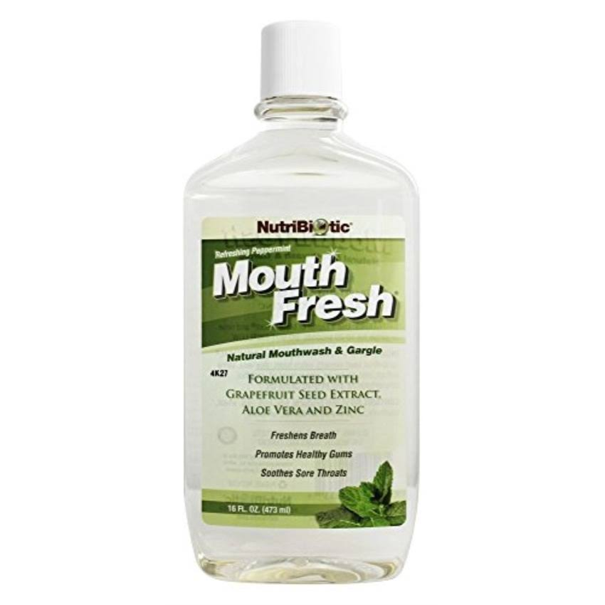 NutriBiotic Mouth Fresh Mouthwash - Peppermint, 470ml