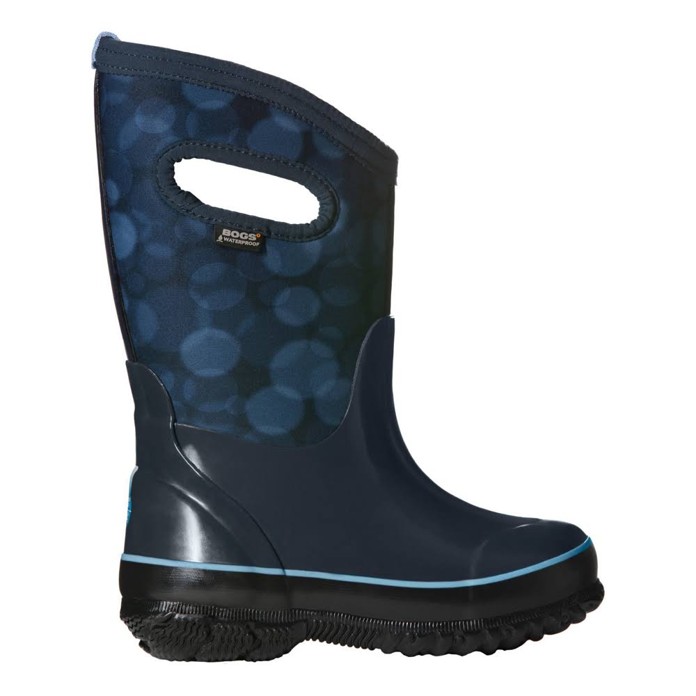 Bogs Kid's Classic Rain Wellington Boots (35, black/blue)
