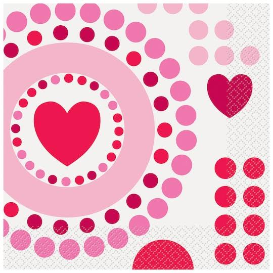 Unique Industries Radiant Hearts Valentine Luncheon Napkin