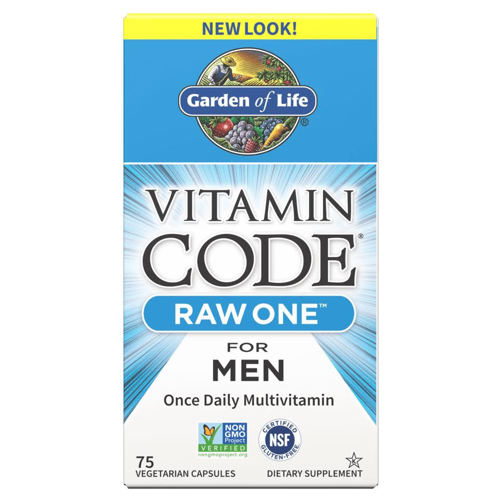 Garden of Life Vitamin Code Raw One for Men Dietary Supplement - 75 Vegetarian Capsules