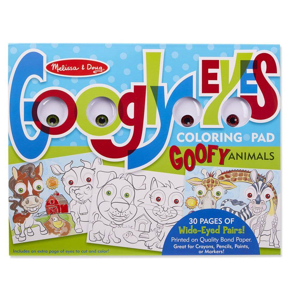 Melissa & Doug Wacky Animals - Googly Eyes Coloring Pad