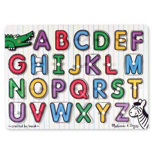 Melissa & Doug Fresh Start Alphabet Peg Puzzle