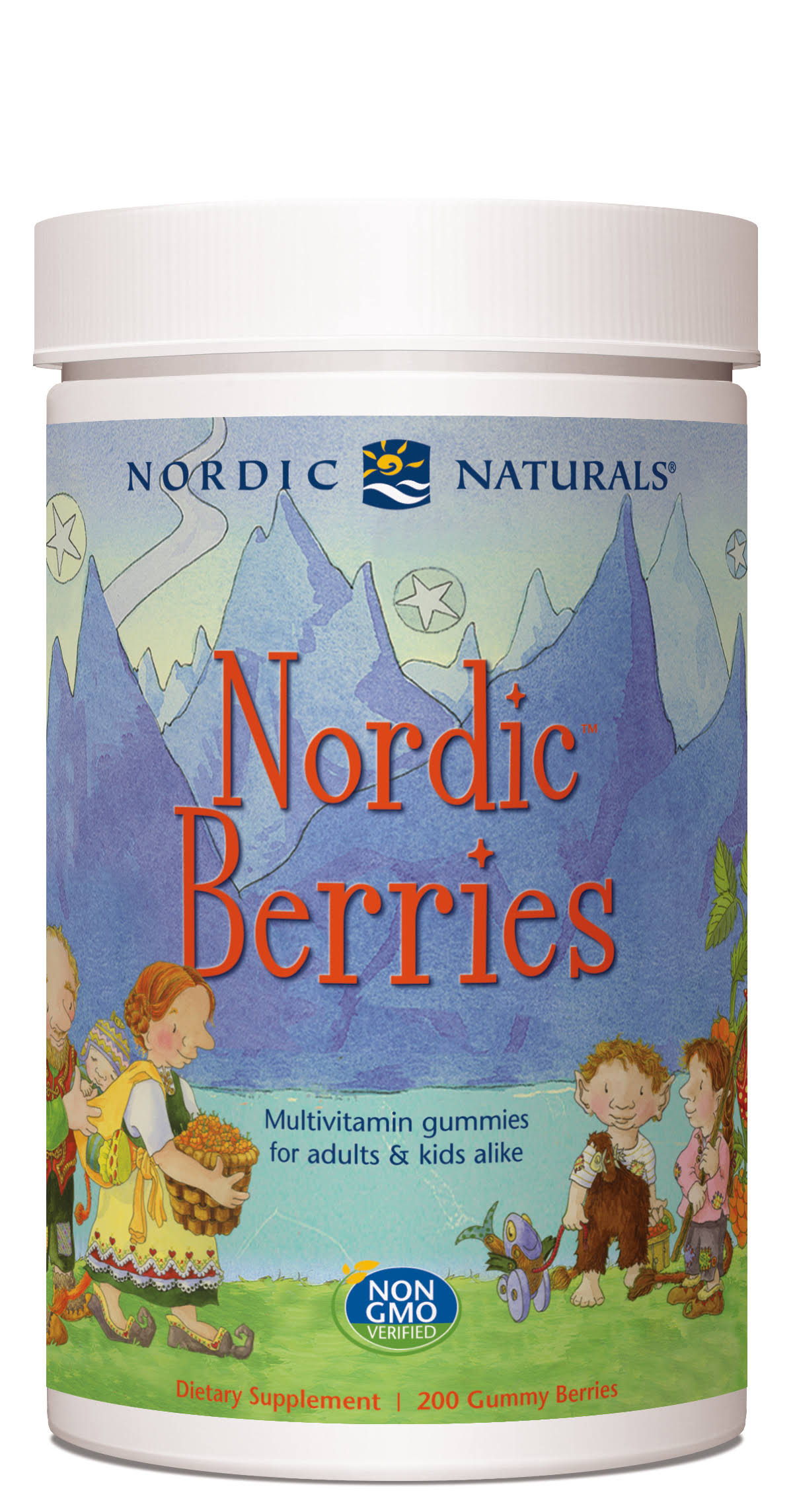 Nordic Naturals Adults and Kids Nutritional Supplement - Berries, 200 Count