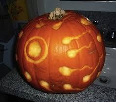 Evil Clown Pumpkin Stencils by 10 Wildly Inappropriate Halloween Pumpkin Carvings