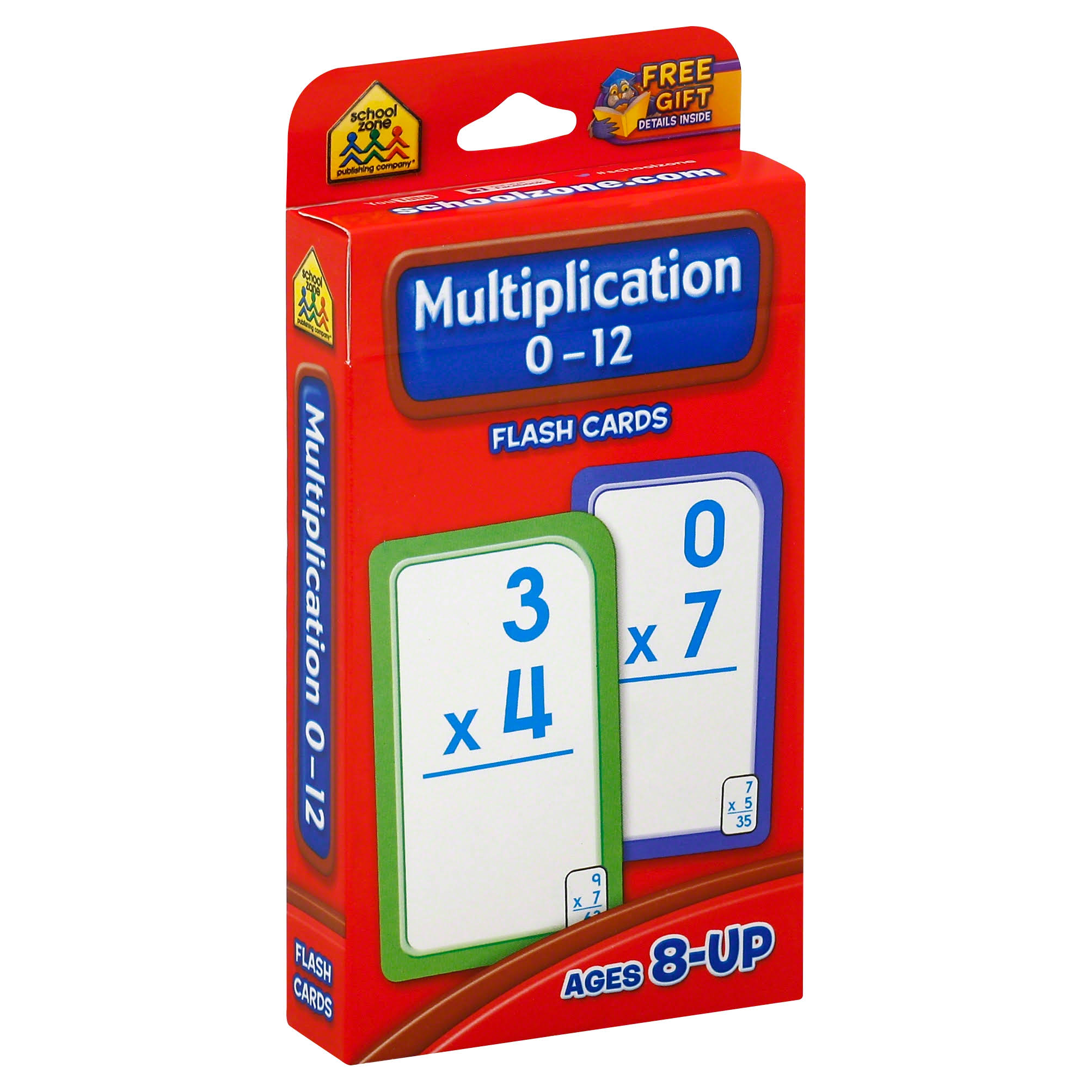Multiplication 0-12 Flash Cards - 3 Set