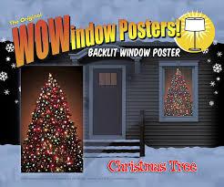 Christmas Tree Amazon Prime by Amazon Com Wowindow Posters Christmas Tree Window Decoration 34 5