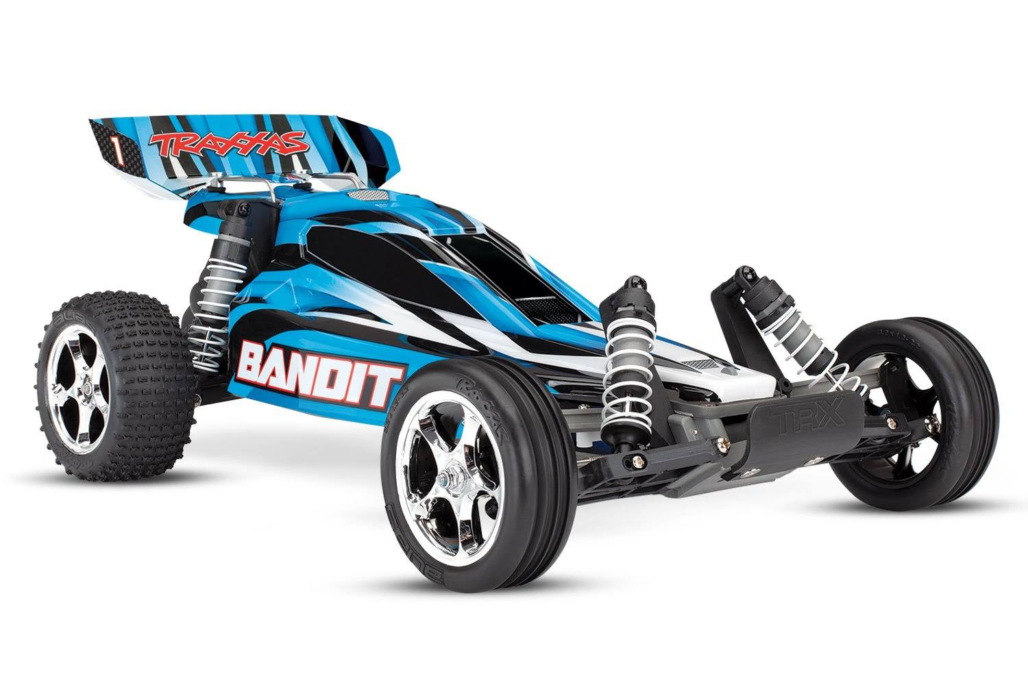 Traxxas Bandit: 1/10 Scale Off-Road Buggy. Blue