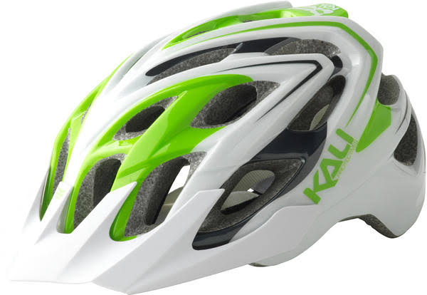 Kali Protectives Chakra Plus Helmet - Sonic White/Green, XSmall-Small