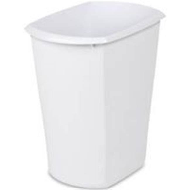 Sterilite Rectangular Waste Basket - White, 3gal